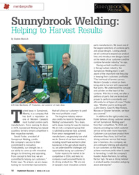 Hardened_components from Sunnybrook produces Gleaner Testimonial
